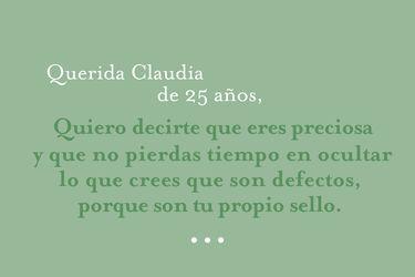 Querida Claudia de 25 años