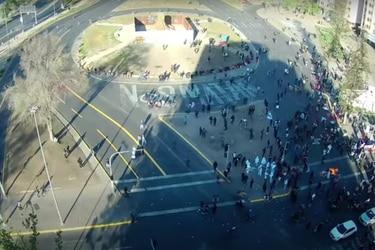 Balance de la primera manifestación en Plaza Italia sin estado de excepción: Cinco detenidos y un carabinero lesionado