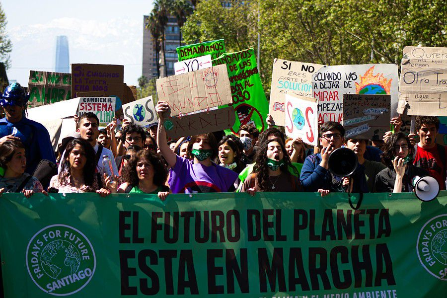 """Fridays for Future"" en Santiago. (Agencia Uno)"