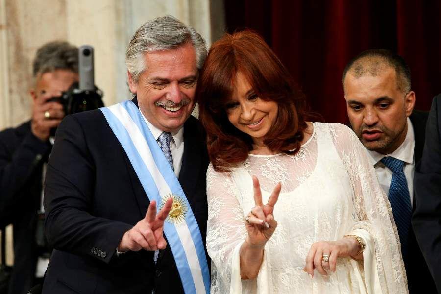 Alberto Fernández y Cristina K