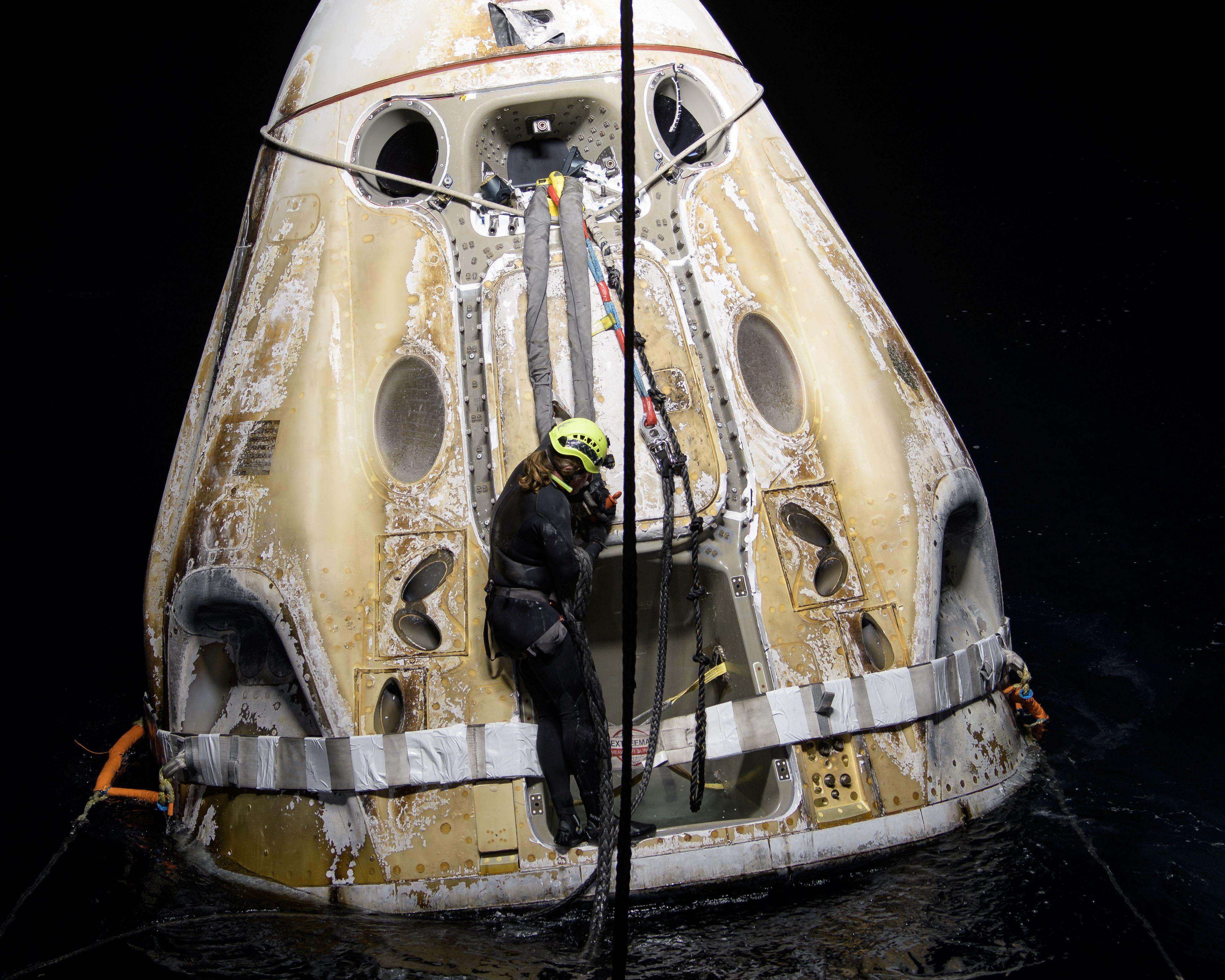 La nave, después de su llegada. Foto: Nasa