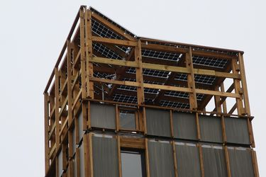 Edificio de madera más alto de A.Latina, un modelo de casa social sustentable