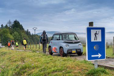 El Citroën Ami se convierte en el primer auto eléctrico que completa el tradicional Camino de Santiago
