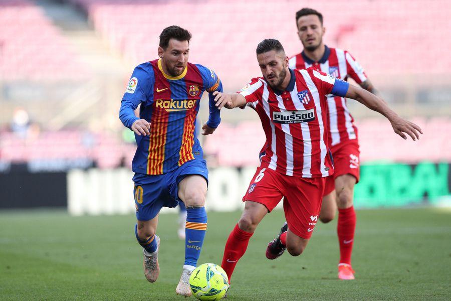 El Barcelona y el Atlético de Madrid empataron 0-0 por la liga española.