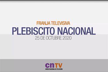 """Franja de TV: Se inició la """"batalla"""" por el plebiscito en la pantalla chica"""
