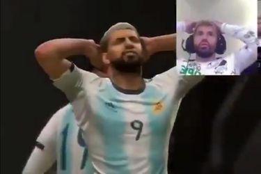 Es muy divertido ver al Kun Agüero pelear consigo mismo en los partidos del FIFA