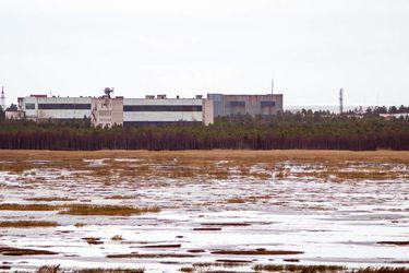 La base militar cercana a la ciudad de Nyonoska, Rusia. FOTO: AFP