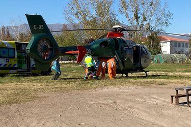 Carabineros traslada a paciente crítico con Covid-19 desde Santiago al Hospital Regional de Talca: es el tercer transporte en cinco días