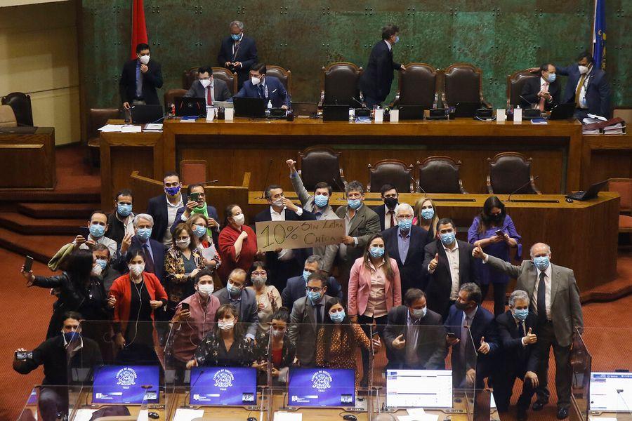 Sala de la Cámara de Diputados aprueba en general segundo retiro del 10% con más votos que el primer proyecto