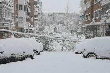 Las imágenes que ha dejado la tormenta de nieve en Madrid