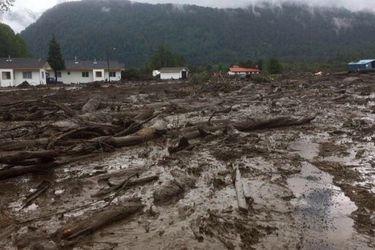 Aluvión en Chaitén