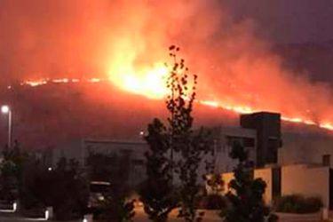 Se mantiene Alerta Roja en Colina por incendio forestal