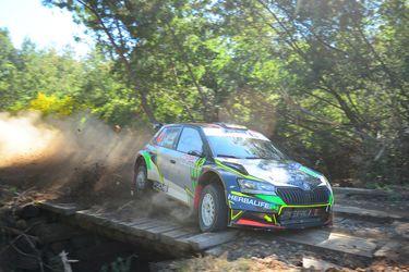 Nicolás Fuchs sale victorioso en su batalla con Martínez durante la jornada sabatina del Rally de Quillón