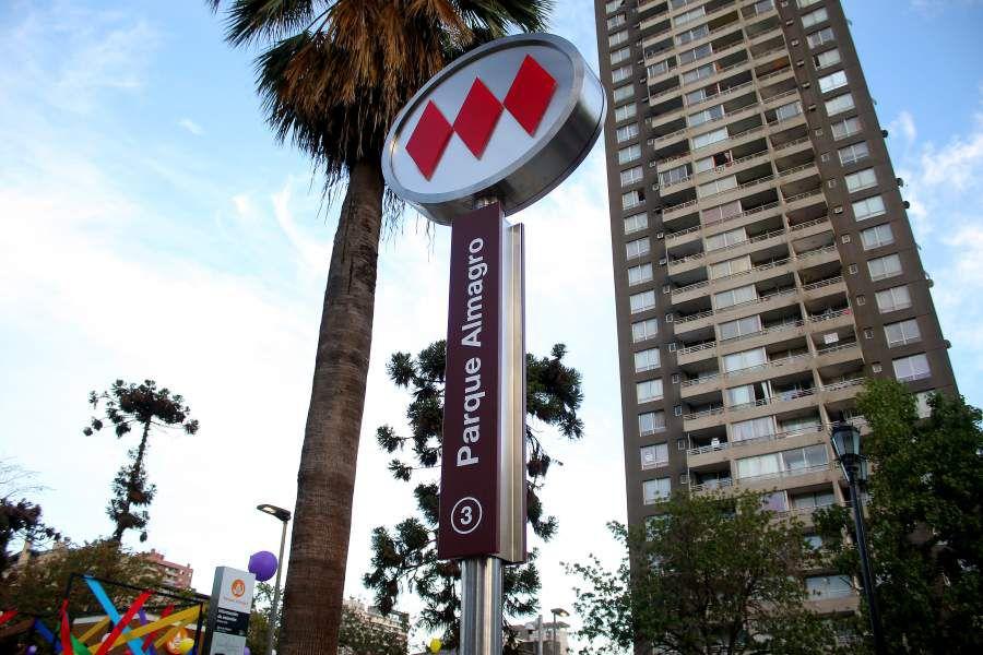Estación Parque Almagro de la nueva Línea 3 del Metro de Santiago