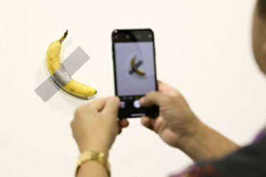Un plátano vendido en 120 mil dólares es la nueva provocación del mercado del arte