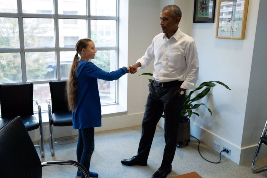 Greta y Obama