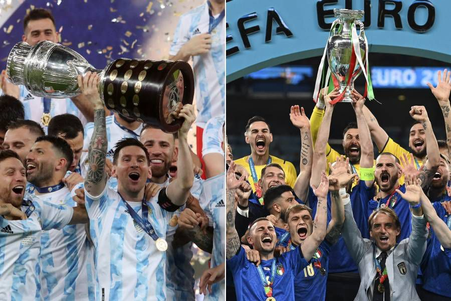 Argentina e Italia, ganadores de la Copa América y Eurocopa, se enfrentarán en un partido amistoso tras un acuerdo entre la Conmebol y la UEFA.