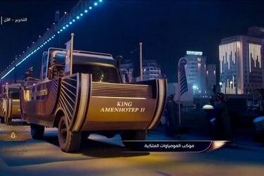 Momias son transportadas a un nuevo museo en un espectacular despliegue