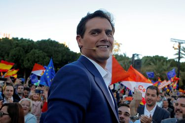 Spain's Ciudadanos candidate Rivera holds a campaign closing rally in Valencia
