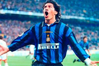 Iván Zamorano es candidato al Salón de la Fama del Inter de Milán