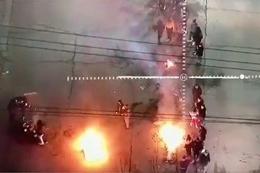 Carabineros informa disturbios y barricadas en Villa Francia y Pudahuel Sur