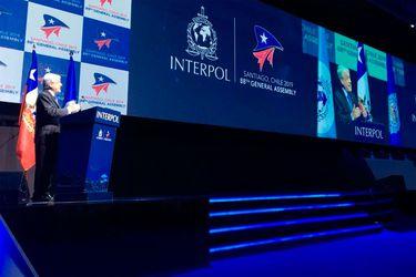 """Piñera llama a las policías a """"actuar siempre dentro del marco de la ley y de la ética"""" en Asamblea de la Interpol en Chile"""