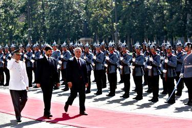 El presidente Iván Duque, de Colombia, fue uno de los primeros en llegar hoy. Foto: Aton Chile