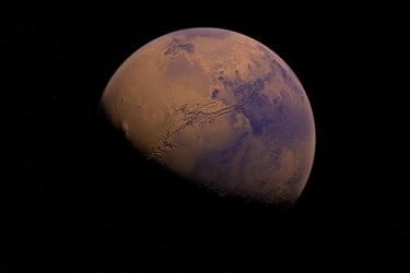Marte en sus orígenes estuvo cubierto de glaciares y no por ríos, según estudio