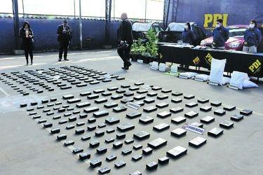 Países vecinos frenaron envío de 156 toneladas de droga a Chile entre 2015 y 2019