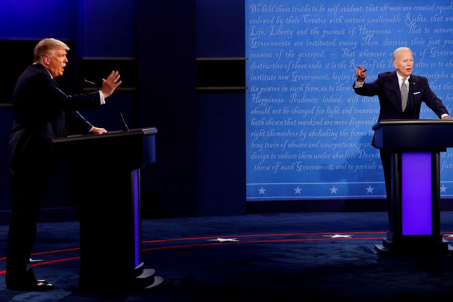 Micrófonos apagados para evitar interrupciones: Cómo será el segundo debate entre Trump y Biden - La Tercera