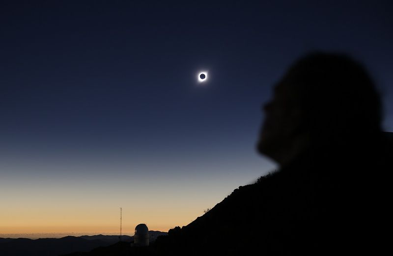 A solar eclipse is observed at Coquimbo