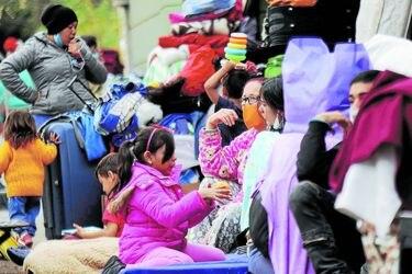 Un campamento que duerme en Providencia