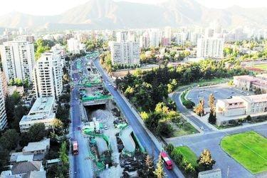 Obras de la futura autopista Américo Vespucio Oriente I completan un 50% de avance