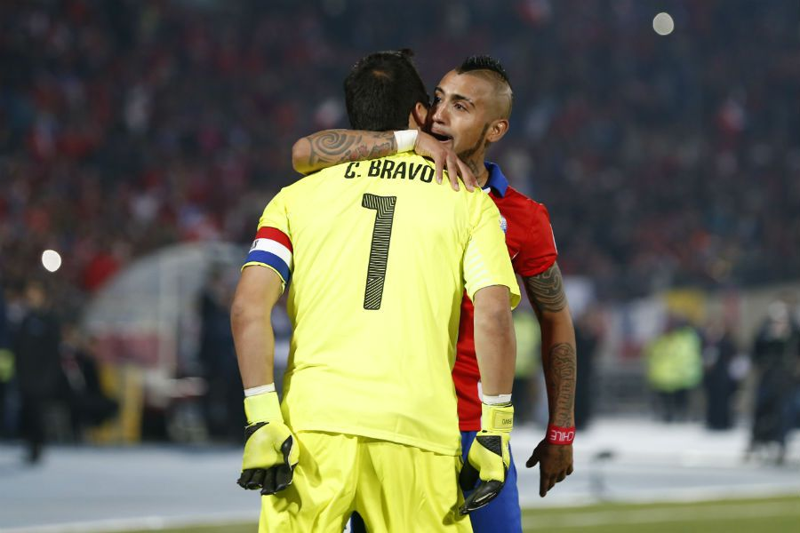 Claudio Bravo y Arturo Vidal | Copa América 2015