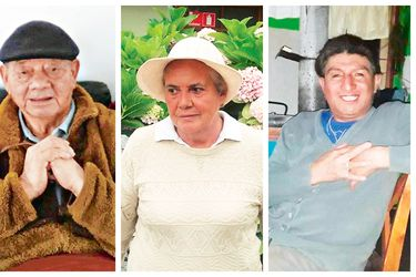 Juan Manqui, Eliana Reyes y David Mañil, víctimas del Covid-19.