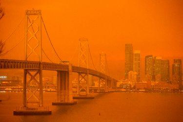 San Francisco se tiñe de naranjo por incendios forestales en California y Oregón