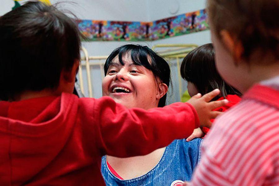 Noelia, maestra síndrome de Down