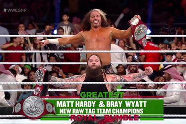 WONDERFUL: Matt Hardy y Bray Wyatt son los nuevos campeones en pareja de RAW