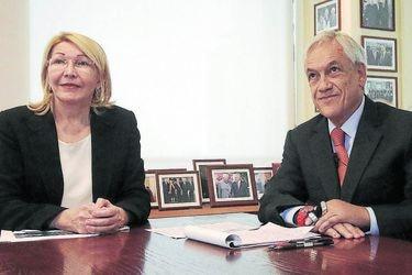 Sebastian Piñera se reunió con ex fiscal general venezolana Luisa Ortega