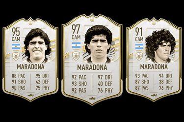 El precio de la carta de Maradona en FIFA 21 subió desenfrenadamente tras su muerte