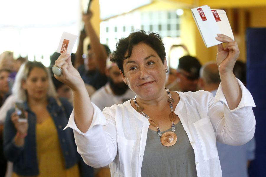 Votacion de la candidata Beatriz Sanchez
