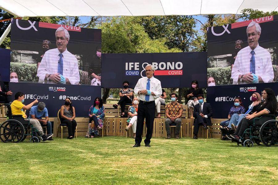 Presidente Piñera anuncia tres nuevos bonos para apoyar a las familias en medio de crisis por la pandemia