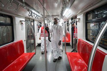 El balance sanitario del Ministerio de Transportes para la red Metro suma 80 mil controles de sanitización desde declarada la pandemia