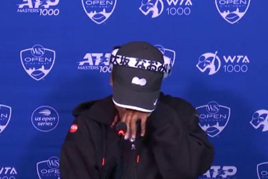 Naomi Osaka se quebró durante una conferencia de prensa previa al WTA de Cincinnati.