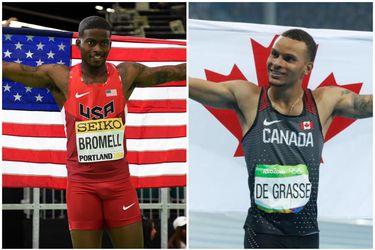 ¿Quién será el nuevo rayo? Trayvon Bromell y Andre De Grasse, los aspirantes al trono vacío de Usain Bolt