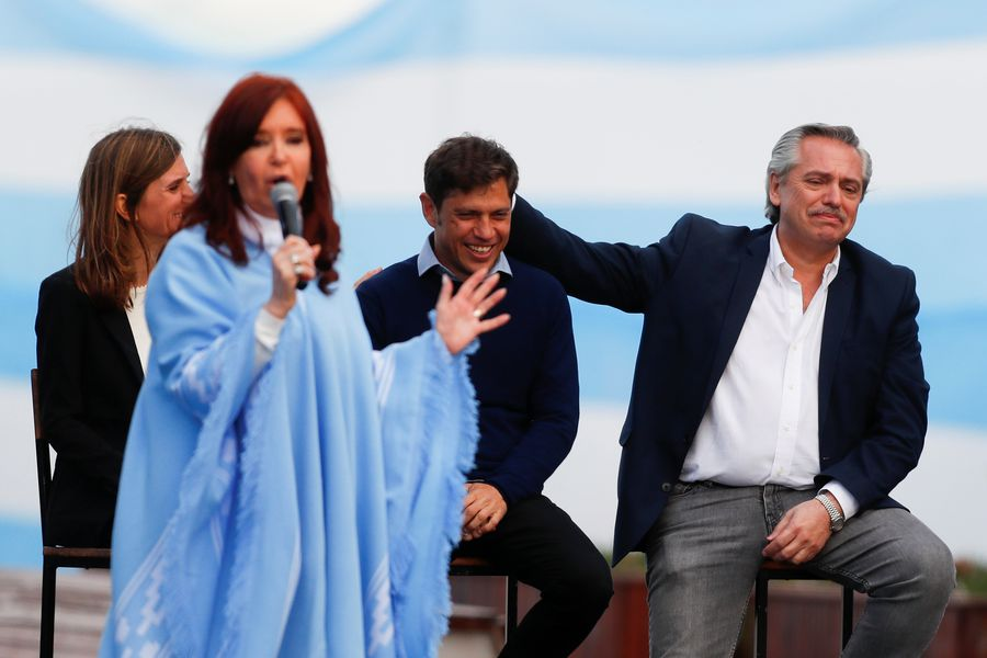 Argentina's presidential candidate Alberto Fernandez and his running mate former President Cristina Fernandez' closing campaign rally in Mar del Plata