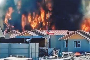 Alerta Roja en Ovalle por incendio forestal con peligro de propagación a viviendas