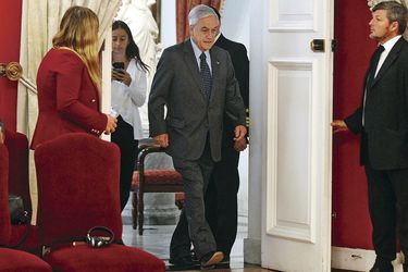 Imagen Piñera con Steven T Mnuchin 22