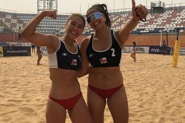 Antonella Mori y Viviana Urretavizcaya se transforman en las primeras chilenas en clasificar al Mundial Sub-21 de Vóleibol Playa