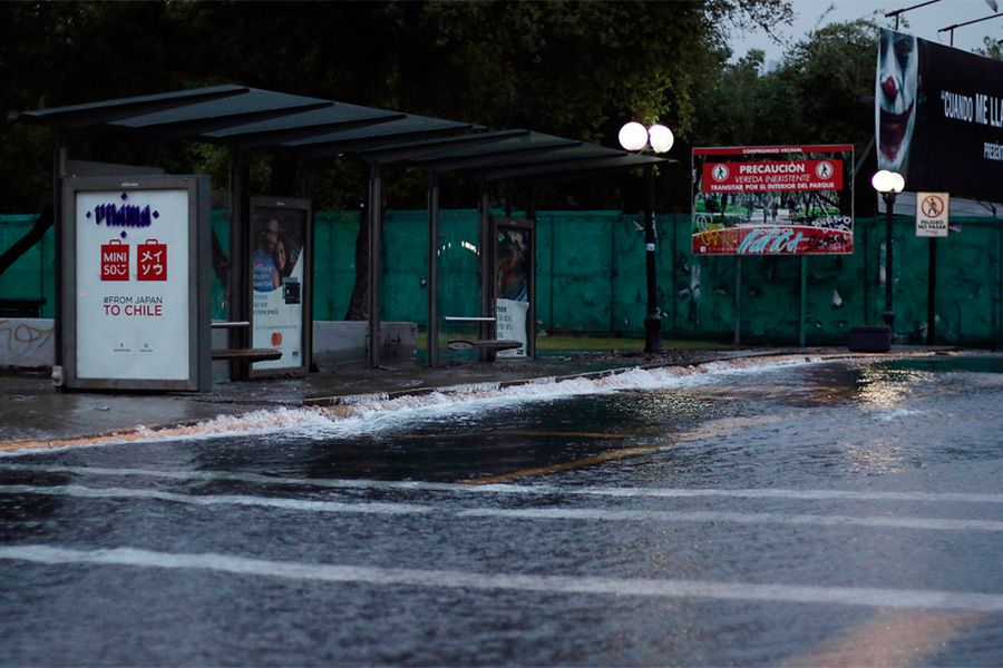 Rotura de matriz de agua en Providencia.